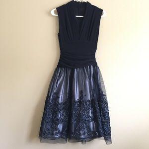 Vintage navy formal dress